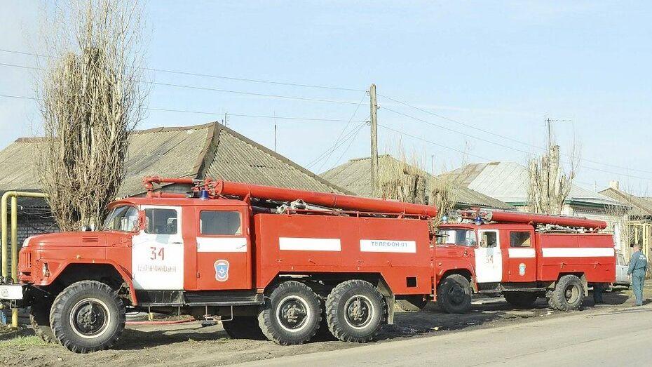 В Воронежской области при пожаре в доме погиб 53-летний хозяин