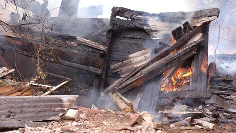 На пожаре в семилукском селе пострадала 54-летняя женщина