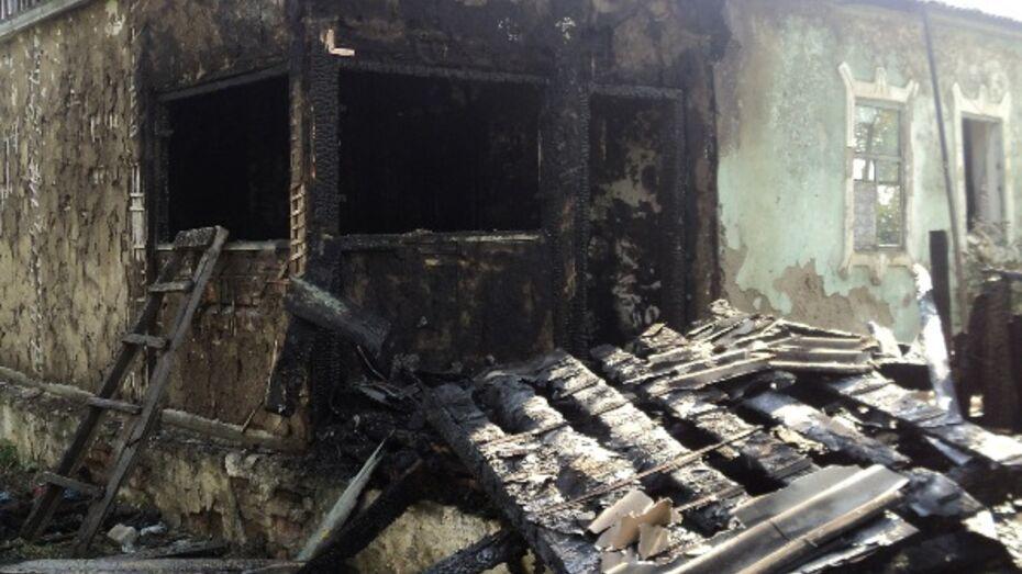 В Верхнехавском районе пожар унес жизни двух мужчин