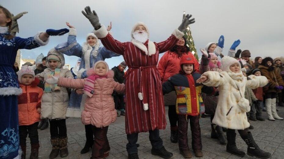 В новогоднюю ночь на главной воронежской елке побывали 10 тысяч человек