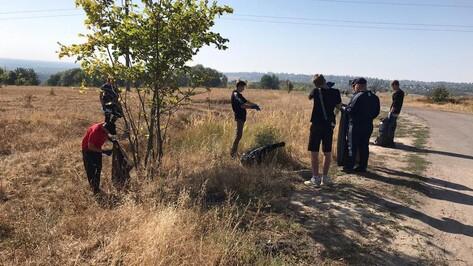 Бобровские волонтеры собрали 50 мешков мусора на Коршевской горе