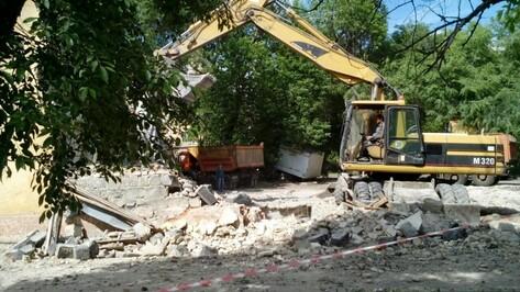 В Воронеже начался снос аварийного жилья на улице Волгодонская