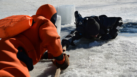 На Воронежском водохранилище спасатели сняли со льдины пьяного рыбака