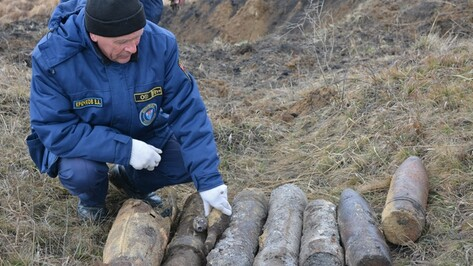 В Острогожском районе уничтожили снаряды, обнаруженные при проведении земляных работ