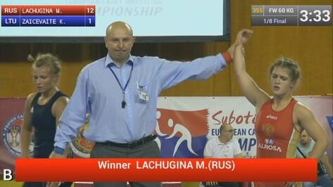 Воронежская спортсменка вышла в финал первенства Европы по борьбе