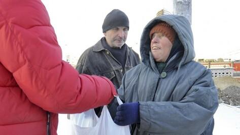 Воронежцам предложили поздравить бездомных людей с Новым годом