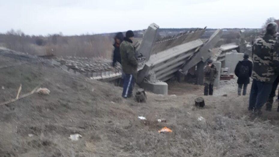 МЧС: при обрушении моста в Воронежской области пострадали 6 человек