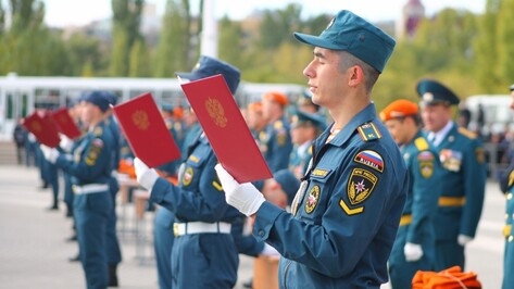 Курсанты Воронежского института МЧС приняли присягу