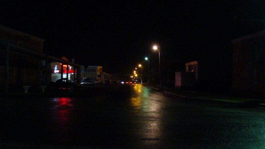 В селе Семидесятном Хохольского района впервые за последние 30 лет появилось уличное освещение