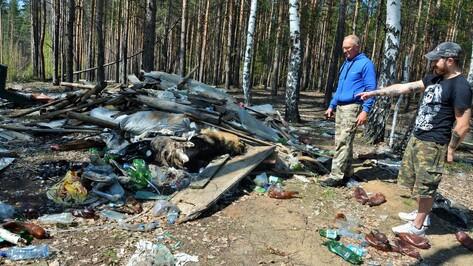 Воронежец наткнулся на кладбище породистых собак в лесу