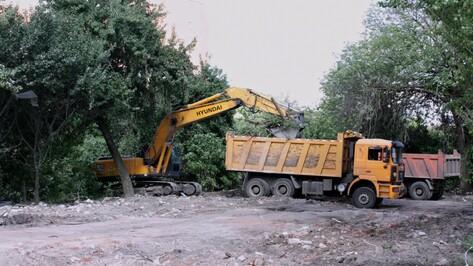 В Воронеже снесли дореволюционное здание бывшей школы на улице Краснознаменная