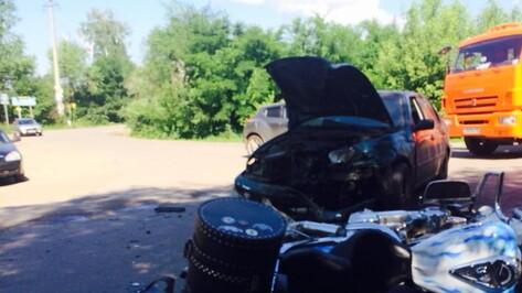 В Воронеже 42-летний мотоциклист погиб в ДТП с иномаркой