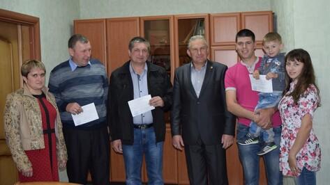 В Рамони 3 семьи получили свидетельства на строительство жилья