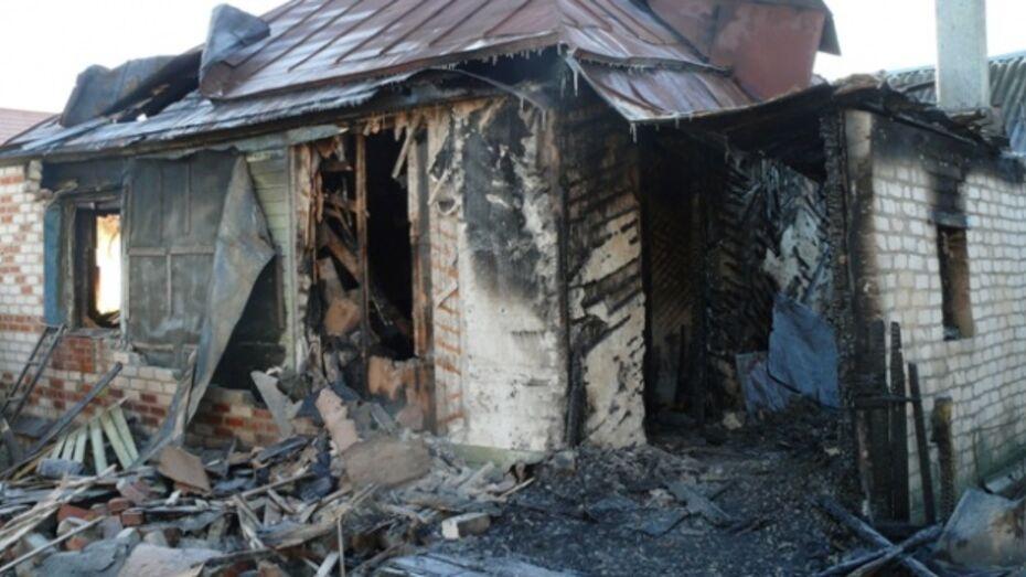В Семилукском районе на пожаре погиб мужчина