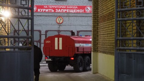 Очевидцы назвали версии пожара на заводе «Верофарм» в Воронеже