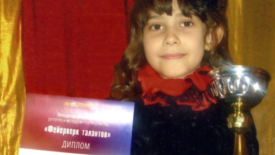 8-летняя София Чеботарь из Богучара была отмечена на конкурсе «Фейерверк талантов»