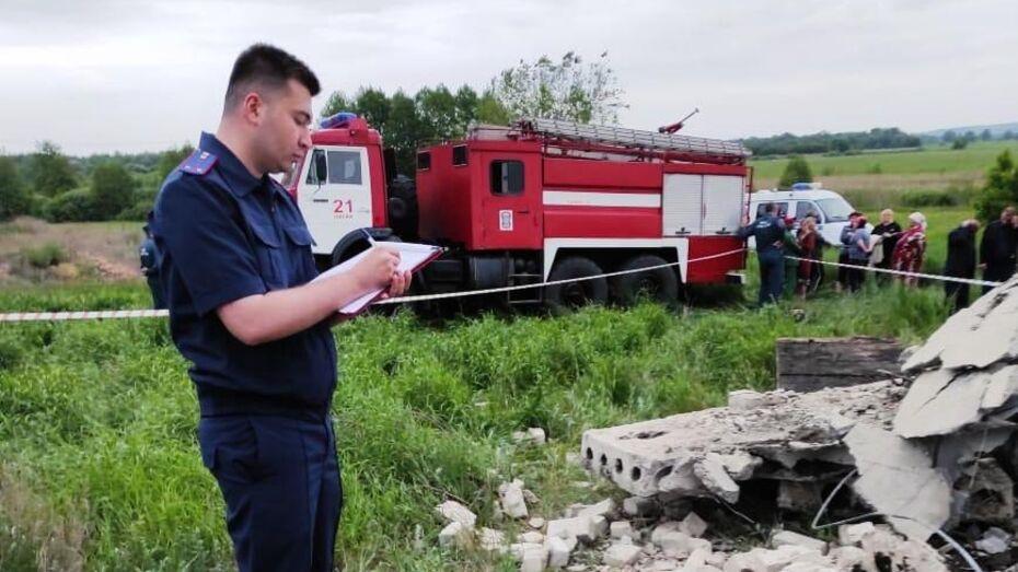 Гибель 3 детей под завалом в Воронежской области привела к уголовному делу