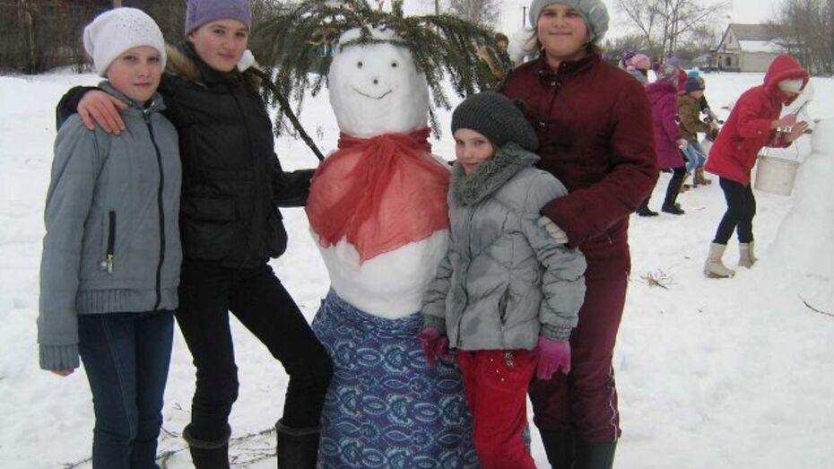 В Павловском районе прошел конкурс на лучшего снеговика