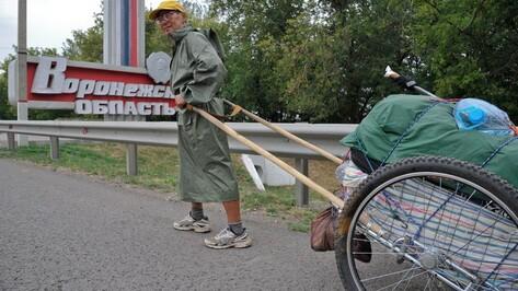 Слепой марафонец из Якутии прибежал в Воронежскую область
