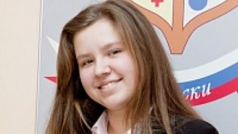 Лискинская школьница пронесла факел с Олимпийским огнем по проспекту Революции