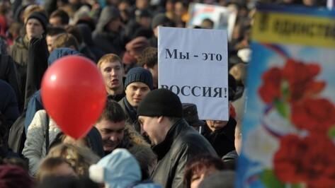 Мэрия Воронежа подготовила 87 мероприятий ко Дню народного единства