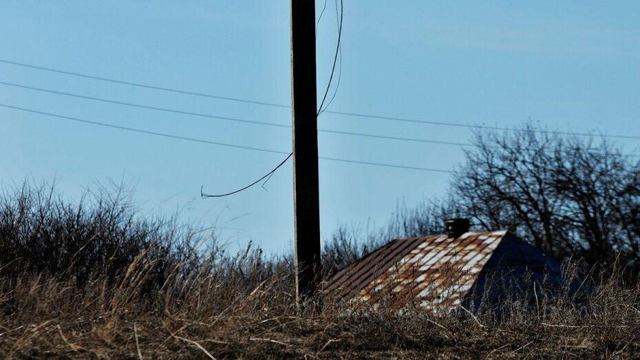 В Воронежской области энергетики потребовали сноса хозпостроек возле ЛЭП