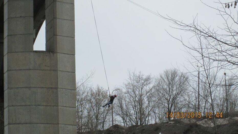 Воронежские полицейские оштрафовали роупджамперов в парке «Динамо»