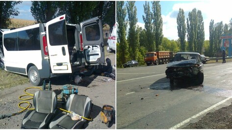 В ДТП с «ВАЗом» и Nissan в Воронежской области 1 человек погиб и 4 ранены