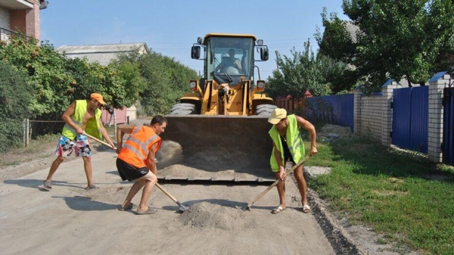 Дороги на 20 улицах частного сектора в Воронеже отремонтировали асфальтовым срезом