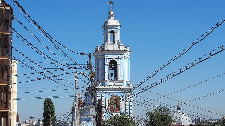 Проект сохранения колокольни Никольского храма в Воронеже разработают до конца года