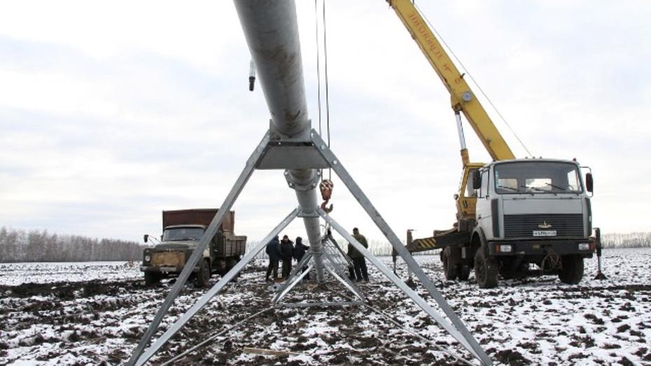 В районах области идет монтаж оросительных систем