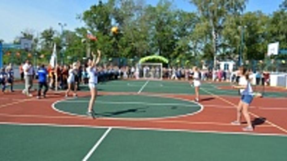 В Петропавловском районе открыли многофункциональную спортивную площадку
