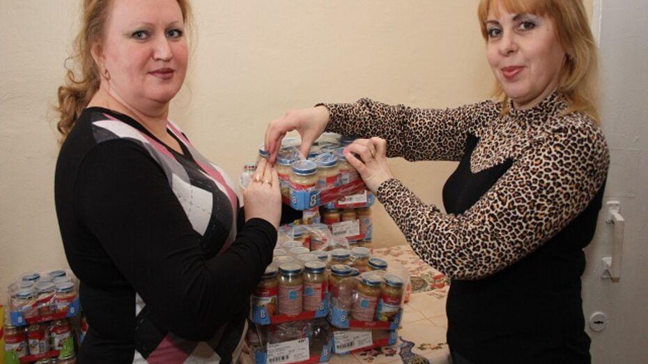 Богучарским детям подарили 19 тонн детского питания