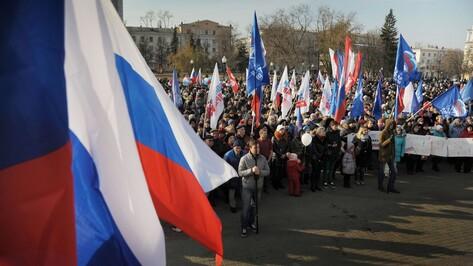На воронежский митинг в День народного единства собрались почти 5 тыс человек