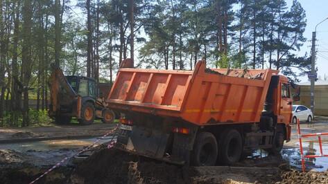 Рабочие устранили утечку, оставившую без воды 2 микрорайона Воронежа