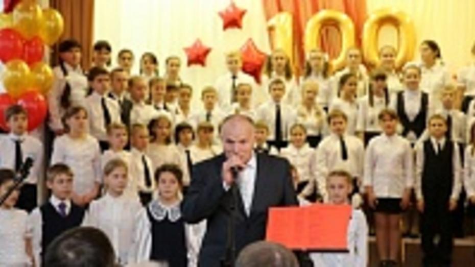 Таловская средняя школа отметила 100-летний юбилей