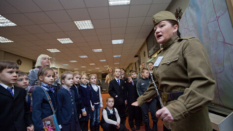 В музее «Арсенал» воронежским школьникам предлагают почувствовать себя солдатами Великой Отечественной