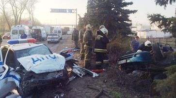 В Воронеже в аварии с участием автомобиля ГИБДД погиб человек