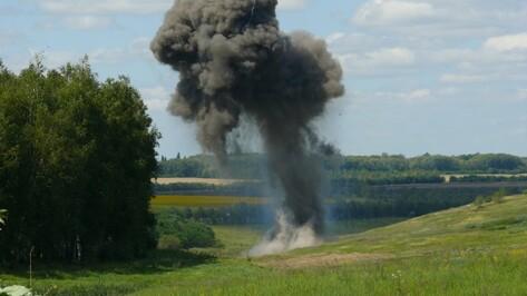 Спасатели в Воронежской области  подорвали две тонны боеприпасов