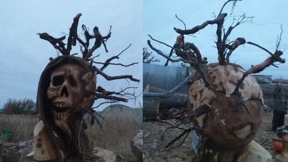 Деревянного коронамонстра сожжет воронежский резчик