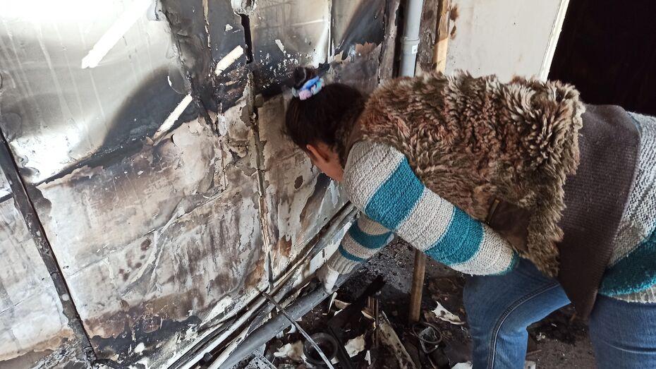 Жительница Новой Усмани попросила помощи после пожара