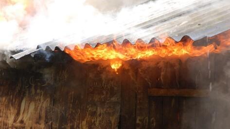 В лискинском селе местный житель получил ожоги ступней на пожаре