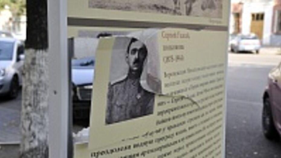 В Воронеже вандалы повредили стенды памяти героев Первой мировой войны