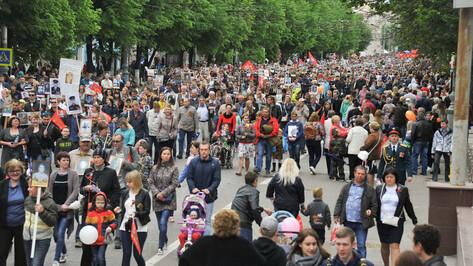 В Воронеже изменили маршрут движения «Бессмертного полка» 9 мая