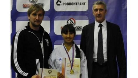 Воронежская спортсменка взяла «золото» на первенстве России по карате
