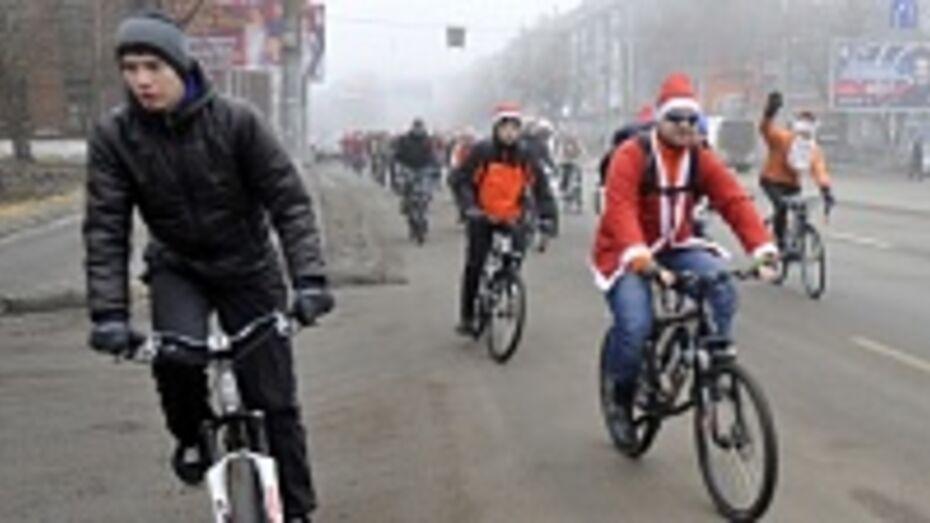 В Воронеже велосипедисты устроят очередной массовый заезд в Рождество
