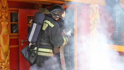 Спасатели эвакуировали охранника при пожаре в Burger House в Воронеже