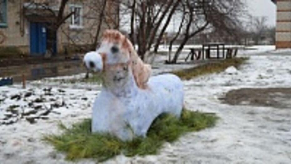 В Кантемировке появилась голубая лошадь