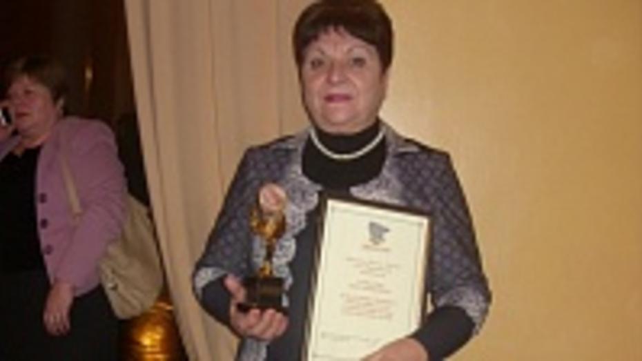 Жительница Петропавловки получила почетный знак «Пьедестал почета – Матери земли Воронежской»