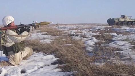 В Воронежской области военные провели учение по контрнаступлению
